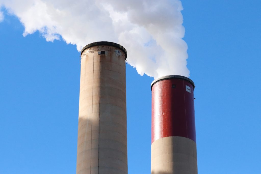 continuous emissions monitoring system data with factory smoke